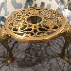 Vintage English Brass Kettle Stand